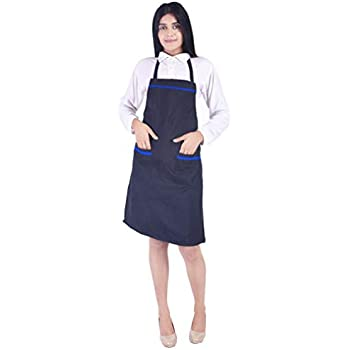 Switchon Waterproof Kitchen Polyester 30lx23w Inch Apron (Blue)