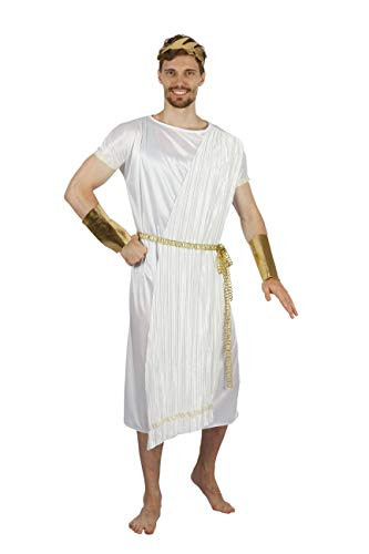Ein Gott Kostüm - Bristol Novelty AF088 Kostüm griechischer Gott, Herren, Weiß/Gold, Einheitsgröße