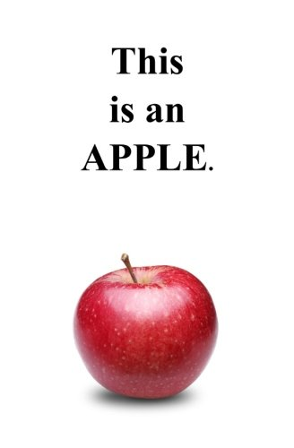 This is an APPLE.: Blank Journal and Political Gift Fox Run Apple