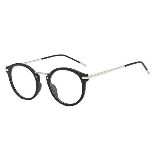 MUCHAO Männer Frauen Oval Vollbild Retro Student Transparente Linse Optische Brillen Computer Spielbrillen