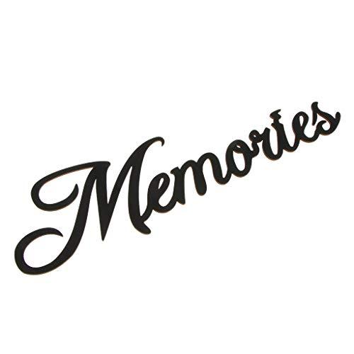D DOLITY Buchstaben '' Memories '' Wandaufkleber Wandsticker Wandschild Verzierung als Wohnkultur und Prop, aus Holz