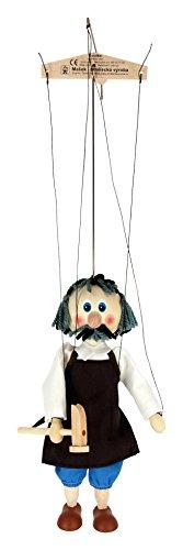 Shoemaker in legno, 20 cm, serie: ABA Marionette giocattolo per bambini, multicolore