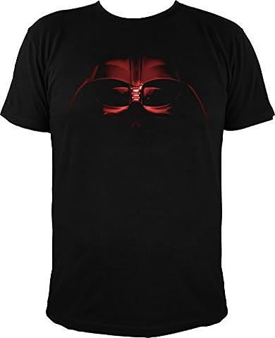 T-shirt motif star wars dark vador avec casque noir -