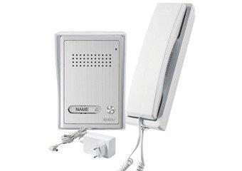 Preisvergleich Produktbild GEV 1-Familienhaus Audio-Türsprechanlage CAB, 1 Stück, silber weiß, 87347