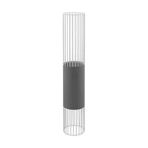 EGLO 97957 Lampe sur pied, Tissu, Acier, E27, 60 W, Gris, Transparent