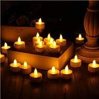 KIAORA Battery Operated LED Candle Tealight Diya Decorative Lights for Home Wall Lighting Decoration (12)