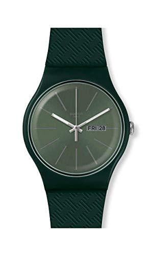 Swatch Orologio Analogico Quarzo Svizzero Uomo con Cinturino in Silicone SUOG710