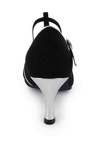 ShangYi Chaussures de danse(Noir / Rouge) -Personnalisables-Talon Personnalisé-Similicuir-Latine Red