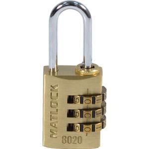 Matlock Cerradura de combinación de latón de 20 mm con código numé