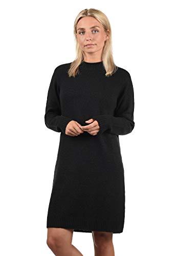 ONLY Wanja Damen Strickkleid Kleid Mit Stehkragen In Midi-Länge, Größe:XL, Farbe:Black