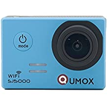 QUMOX Original SJ5000 WIFI - Cámara de Deporte para casco Impermeable, Video de Alta definición 1080p Full-HD de 2.0 pulgadas 2'' 170 ° Lente Submarino HD impermeabilizan la videocámara DVR, Color Azul