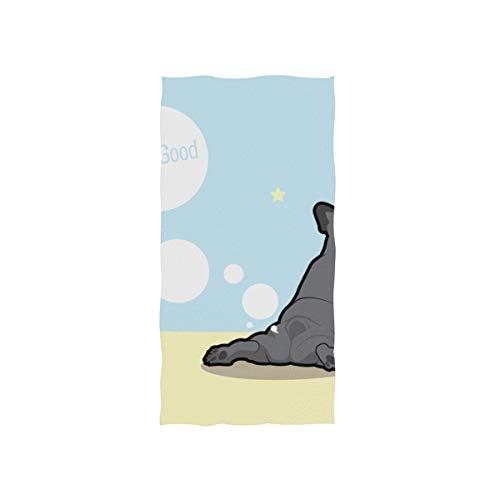 Enhusk Niedlichen Hund Hintern Lustige Tier Weiche Spa Strand Badetuch Fingerspitze Handtuch Waschlappen Für Baby Erwachsene Bad Strand Dusche Wrap Hotel Travel Gym Sport 30x15 Zoll (Benutzerdefinierte Billig Luftballons)