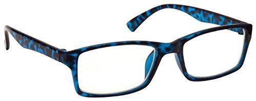 Die Lesebrille Unternehmen Blau Schildpatt Kurzsichtigkeit Entfernung Brille Herren Frauen UVM092BL Dioptrien -1,00