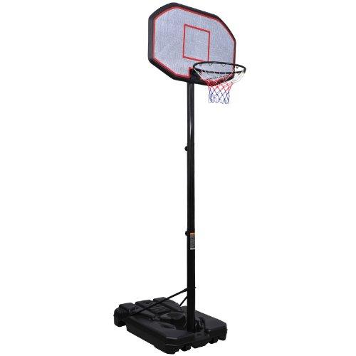Homcom - Canestro da basket con supporto, misura XXL, altezza max.: 360 cm