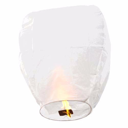 aohang Sky Camping Wishing Light Papier Laterne Muster Flying Sky Laterne/Kongming-Licht (weiß) White 2 pieces