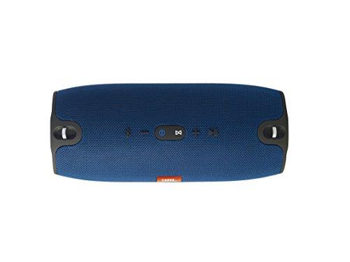 JBL Xtreme Spritzwasserfester Tragbarer Bluetooth Lautsprecher mit 10,000 mAh Akku, Dualem USB-Ladeanschluss und Freisprechfunktion - Blau -