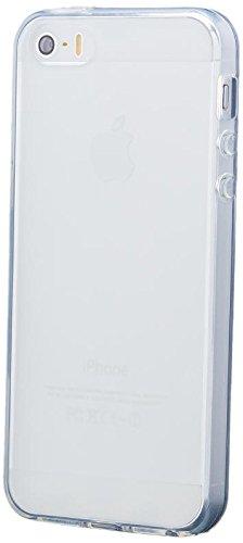 iCues Schutzhülle für Apple iPhone SE / 5S / 5 | TPU Matt Case Weiss | [Display Schutzfolie Inklusive] Transparent Klarsichthülle Durchsichtig Klare Klarsicht Silikon Gel Hülle Cover Schutz