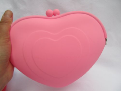 fat-catz-copy-catz , Damen Clutch large pink heart silicone bag