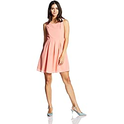 Vero Moda Women's A-Line Dress (10173332_Peach Amber_XS)