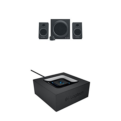 Logitech Z333 Multimedia Speakers - Lautsprecher für Home Entertainment schwarz Bluetooth Audio Adapter schwarz