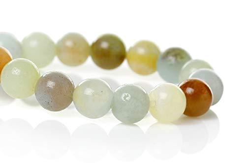 Sadingo perle di pietra naturale amazzonite lucide multicolore, gioielli fai da te, braccialetto, collana, orecchini, 6 o 8 mm, 1 filo, 6mm 65 stück