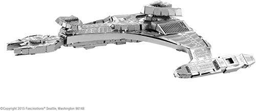 fascinations- Metal Earth - maqueta metálica 3D Star Trek Klingon vor'cha, Packaging e Instrucciones en Castellano, Multicolor (MMS283C2)