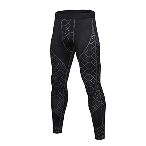Kongqiabona Men Floral Compression Pants Schnelltrocknend Sportstrumpfhosen Hosen Laufen Leggings Yoga Rashguard Athletic Fitness Pants Gym Pants -