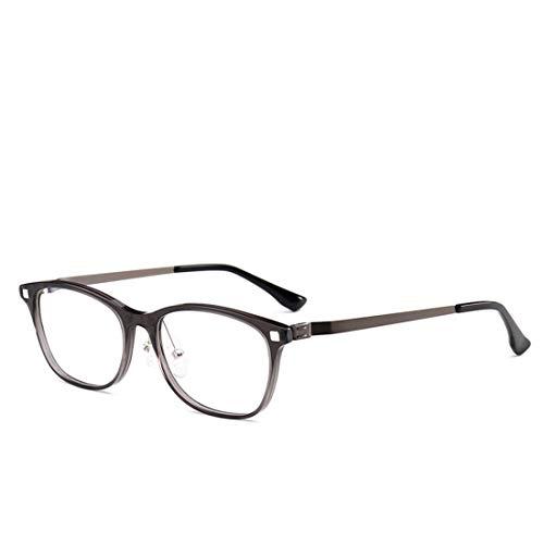 Chengduaijoer Brillengestellmänner und -Frauen gestalten Brillengestellbrillen-Computerbrillen-Mannfrauen (Color : Gray)