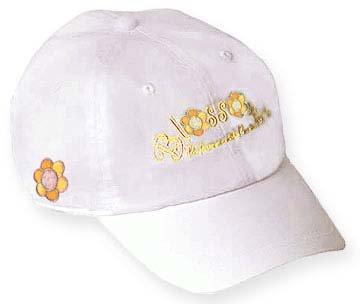 Blossoms Casquette de Golf Blanc/Jaune