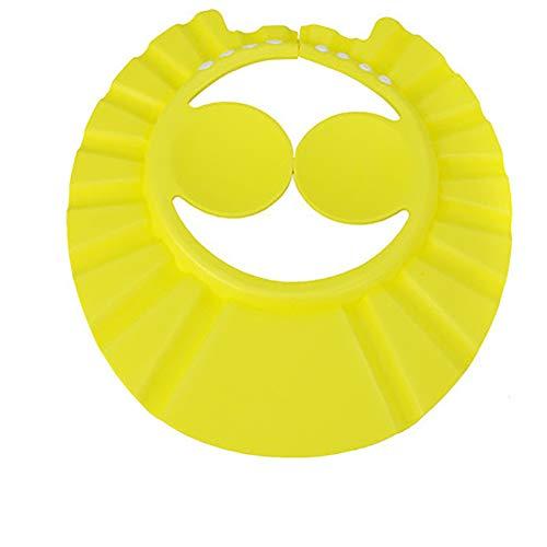 Safe Shampoo Dusche hat Bade Schutz Bad Kappe weich Verstellbare Visier Hut für Kleinkind Baby Kinder (gelb)