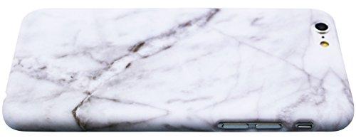 Schutzhülle für Apple iPhone 6 / 6S [Marmor / Marble] Design - Hard case cover Viele Varianten (Weiß - Marble) von Panelize C. & A. Weiß - Marble