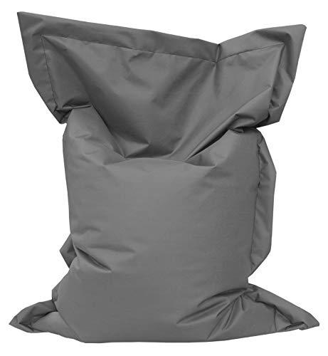 GiantBag Sitzsack Chill Out Riesen Sitzkissen (100 x 75 cm, Anthrazit)