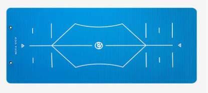 YOOMAT NBR 15mm Anfänger Fitness halten Fit Yoga-Matte Rutschfeste Yoga-Matratze Sport Aerobic gesunde Gym Pad verlieren Gewicht Übung Yoga-Matte, Gold