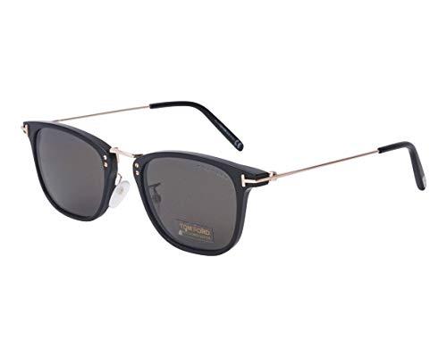 Tom Ford Sonnenbrillen Beau (TF-0672 01A) schwarz glänzend - gold - grau - verspiegelt