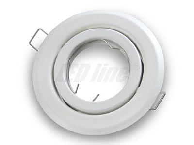 Einbaustrahler, LED und Halogen Einbauspot Spot Rund Metall Weiss ideal für LED Lampen + GU10 Fassung, LEDLine von LEDLine bei Lampenhans.de