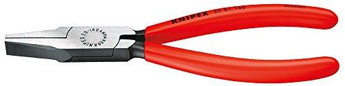 KNIPEX 20 01 140 Flachzange schwarz atramentiert mit Kunststoff überzogen 140 mm