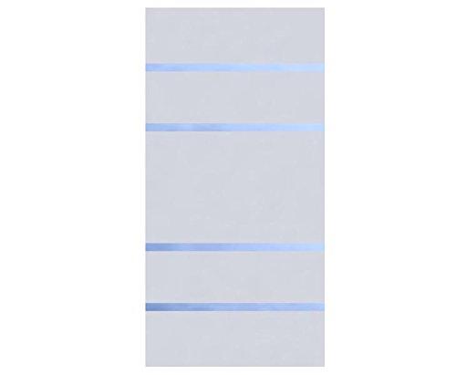 Sichtschutz Glas Element ALPHA 180x90cm, satiniert mit 4 durchsichtigen Streifen – Sichtschutzzäune Sichtschutzwand Gartensichtschutz Balkonsichtschutz Winschutz Sichtschutzwand