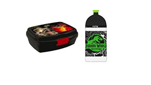 Dinosaurier Dino Set BROTDOSE BROTZEITDOSE Lunchbox + TRINKFLASCHE Flasche + Sticker von kids4shop
