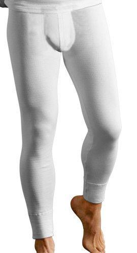 Long John Thermo-Unterhose lang Herren knöchellang weiß Größe 8 (XXL)