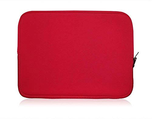 Sweet Tech Rot Neopren Schutzhülle Sleeve Passend für One Tablet Xcellent Pro 10 Windows Tablet 10.1 Zoll