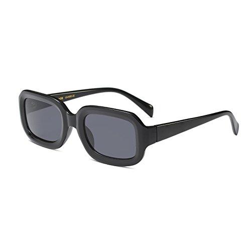 KLXEB Kleine Quadrat Sonnenbrille Männer Frauen Retro Schwarz Weiß Rot Rahmen Rechteckigen Sonnenbrille Männlich-Weibliche Schattierungen, C2