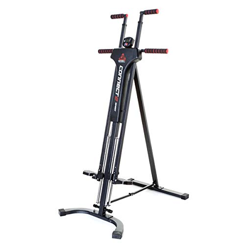Connect2sport Vertical Climber Total Body Workout with Built In Monitor