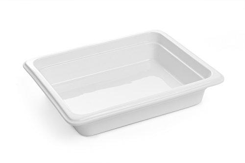 Hendi 783016 Gastronorm Behälter, GN 1/2, Strahlendes Weiß