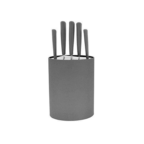 Bloc 5 couteaux lame inox gris