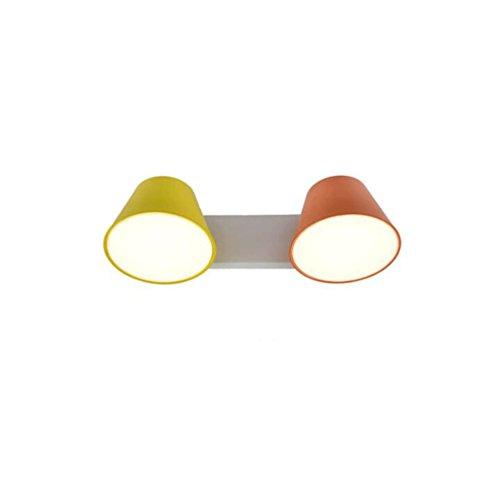 Applique murale GAODUZI Moderne Minimaliste Style Chambre Chevet Lampes Créative Allée Balcon Double Fer Mur Lampe 5W (Couleur : B)