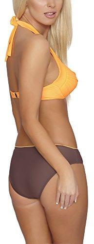 Verano Damen Bikini Alessia Orange/Braun