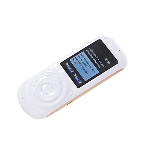 IPOTCH 37 Sprachen Sprachübersetzer Wifi / 4G Internet Reiseübersetzer Gerät für Reisen, Unterhaltung, Lernen usw. - Weiß