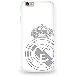 Real Madrid RMCAR005 - Carcasa con escudo para Apple iPhone 6, Blanco