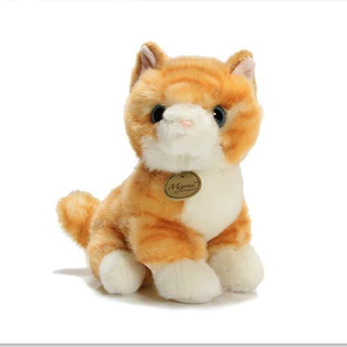 Qiaoxianpo01 Plüschtier, Simulation Kätzchen Puppe Plüschtier, Süße Jugend Design Stil 20cm (orange, grau) (Color : Gray, Size : 20cm) -