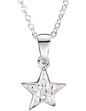Jo for Girls Kinder-Anhänger Sterling-Silber 925 Glaskristall 350 mm CP42SP